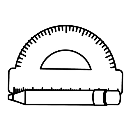 conveyor rule with pen vector illustration design