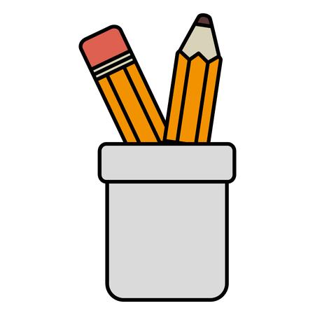 porte-crayons isolé icône dessin d'illustration vectorielle Vecteurs