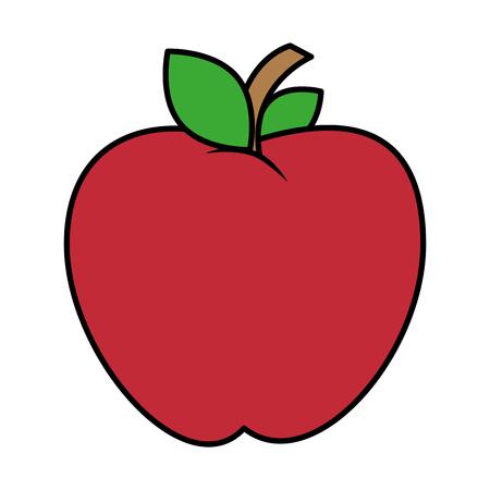 apple fresh fruit icon vector illustration design Çizim