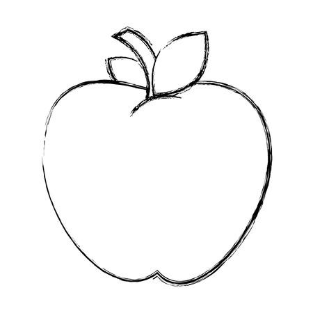 사과 신선한 과일 아이콘 벡터 일러스트 레이 션 디자인 일러스트