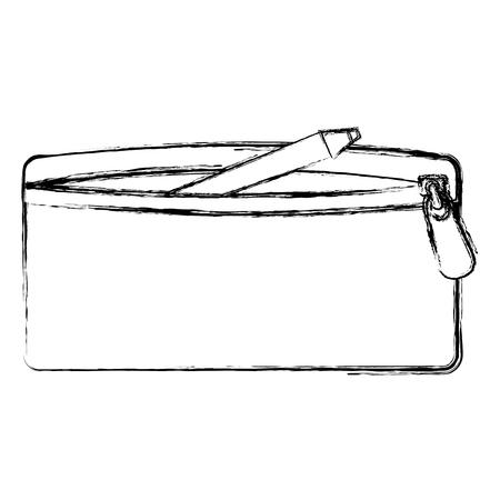 étui de crayon isolé icône du design d & # 39 ; illustration vectorielle Vecteurs