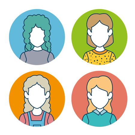 communication cartoon: character set avatar icon vector illustration graphic design Illustration