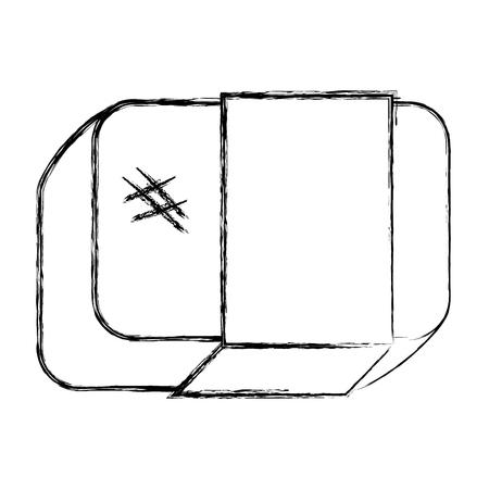 지우개 학교 격리 아이콘 벡터 일러스트 디자인 일러스트