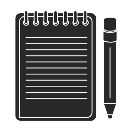notebook school with pencil vector illustration design Stock Vector - 85417410