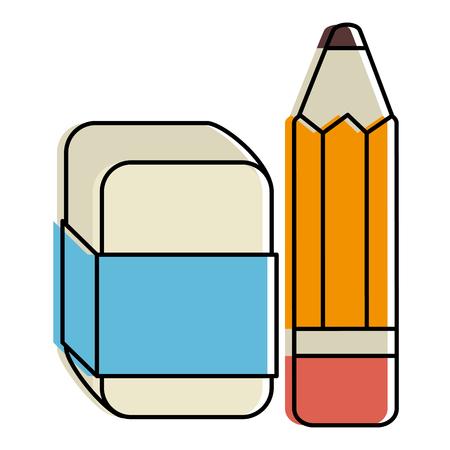 연필 학교 지우개 벡터 일러스트 디자인 스톡 콘텐츠 - 85452976