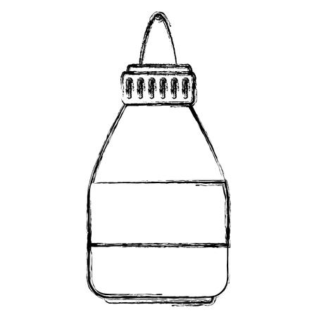 接着剤ボトル分離アイコンベクトルイラストデザイン  イラスト・ベクター素材