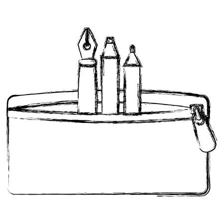 TUi à crayons avec stylo et couleurs vector illustration design Banque d'images - 85452980