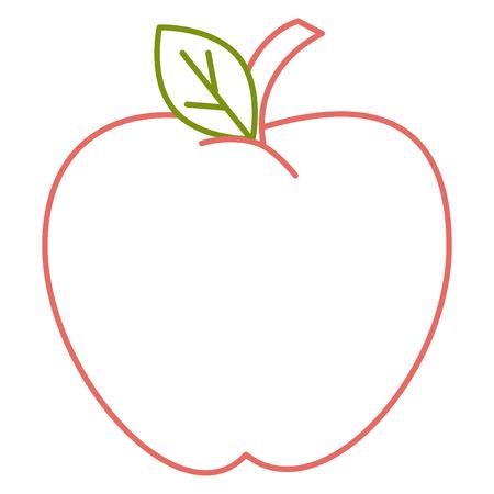 アップル フルーツ アイコン ベクトル イラスト デザイン