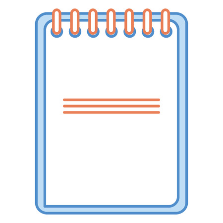 planner: notebook school isolated icon vector illustration design