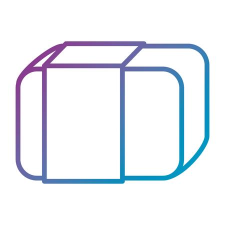 지우개 학교 격리 아이콘 벡터 일러스트 디자인 스톡 콘텐츠 - 85453038