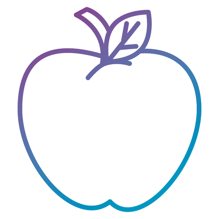 apple fresh fruit icon vector illustration design Ilustrace