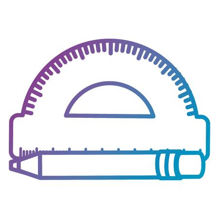 conveyor rule with pen vector illustration design