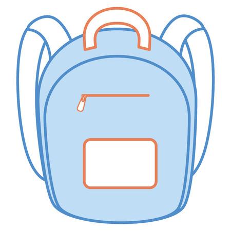 school bag isolated icon vector illustration design