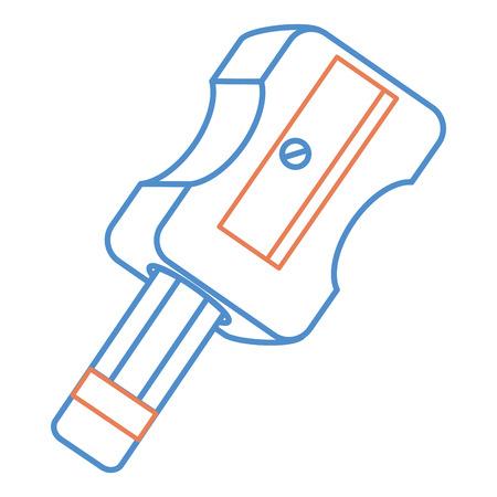 sharpenner school met potlood vector illustratie ontwerp Stock Illustratie