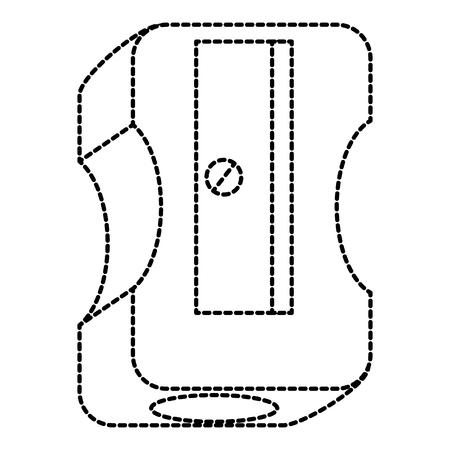 sharpenner 학교 격리 된 아이콘 벡터 일러스트 디자인
