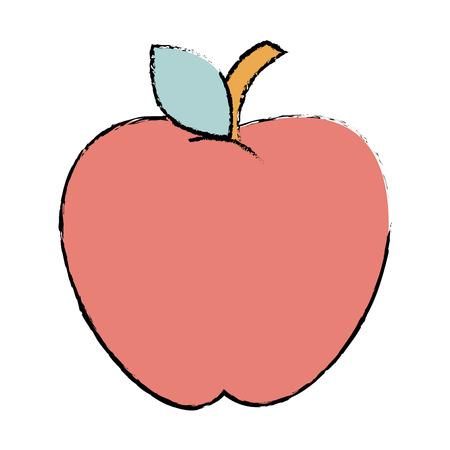 リンゴフレッシュフルーツアイコンベクトルイラストデザイン