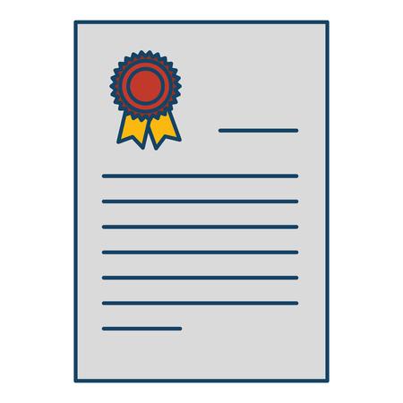 Diploma de graduación aislado icono ilustración vectorial diseño Foto de archivo - 85453164