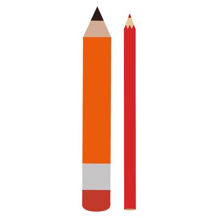 pencil school with colors vector illustration design Ilustração