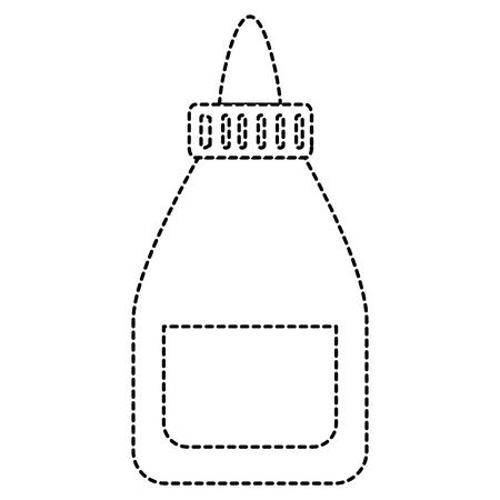lijmfles geïsoleerde pictogram vectorillustratieontwerp Stock Illustratie