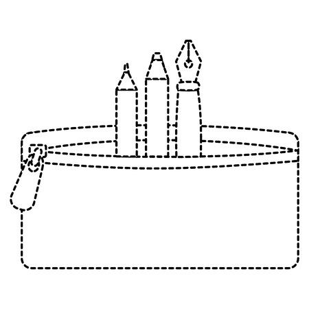 ペンと色の鉛筆ケースベクトルイラストデザイン 写真素材 - 85453198