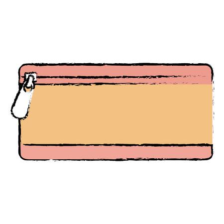 鉛筆ケース分離アイコンベクトルイラストデザイン