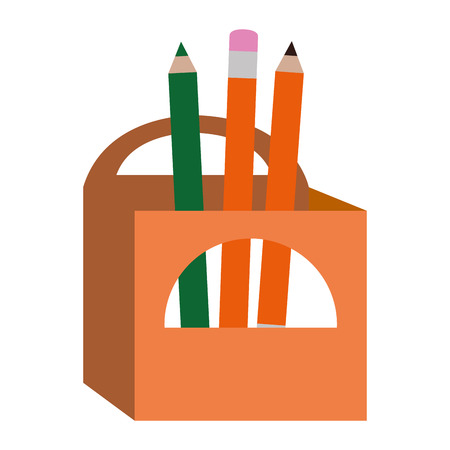 pencils box packing icon vector illustration design Illustration