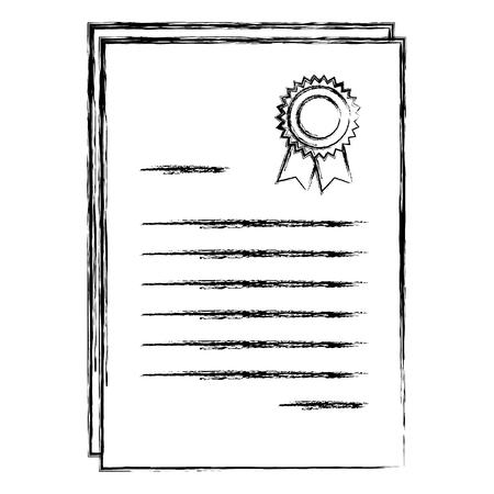 Diploma de graduación aislado icono ilustración vectorial diseño Foto de archivo - 85425864