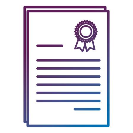 卒業ディプロマ分離アイコンベクトルイラストデザイン。
