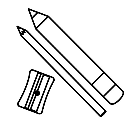 Sharpener school with pencil vector illustration design.