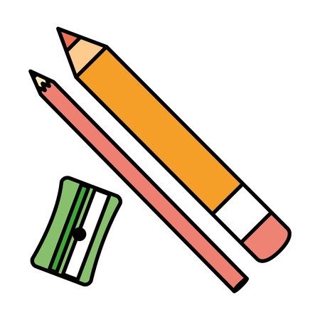sharpenner school with pencil vector illustration design