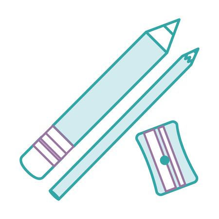 Sharpenner Schule mit Bleistiftvektor-Illustrationsdesign Standard-Bild - 85417272