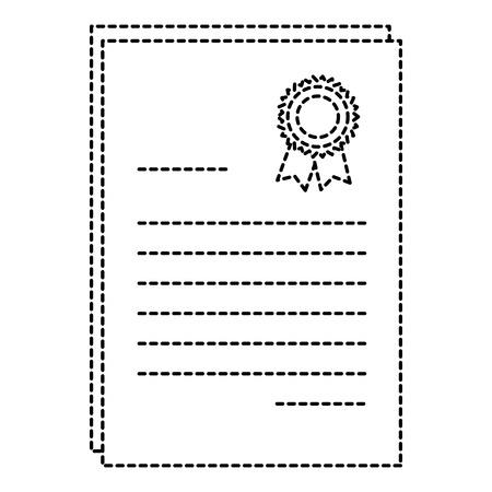 Diseño aislado del ejemplo del vector del icono del diploma de la graduación Foto de archivo - 85417262