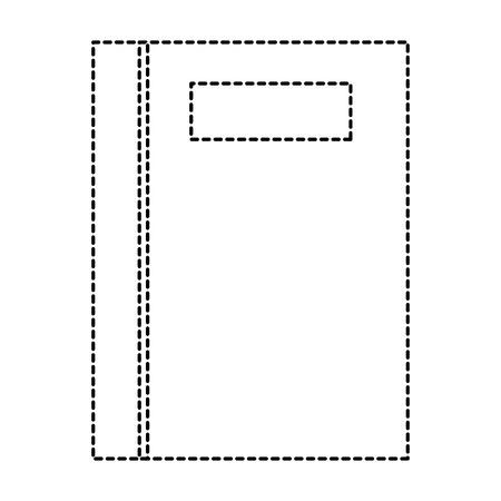tekstboek school icoon vector illustratie ontwerp