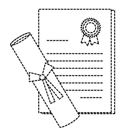 卒業ディプロマ分離アイコンベクトルイラストデザイン