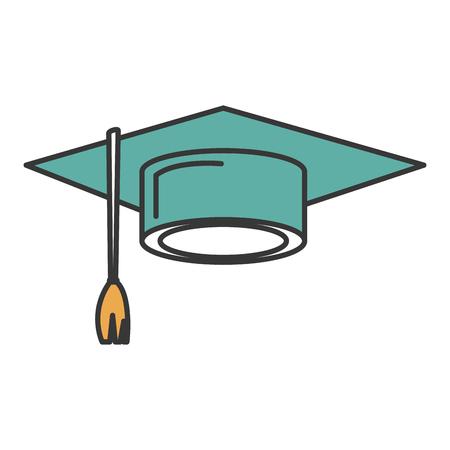 Hat graduation toga isolated icon vector illustration design Illustration