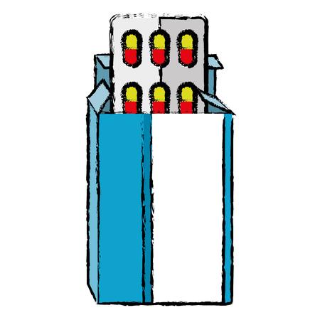 capsules drugs in box vector illustration design Ilustracja
