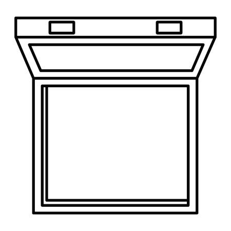 pharmacy symbol: medical kit open and empty vector illustration design Illustration