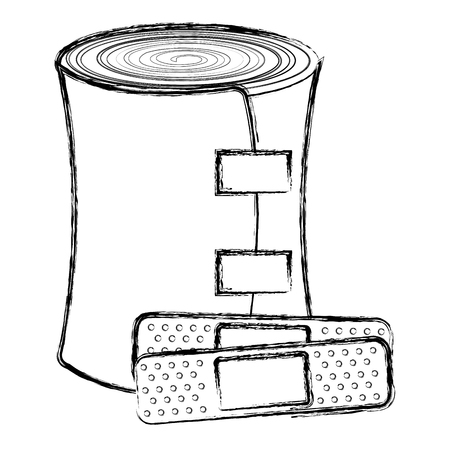 medical bandage and cure band vector illustration design 版權商用圖片 - 85425433