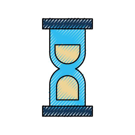 모래 시계 아이콘 유리 타이머 기호 벡터 일러스트 레이션