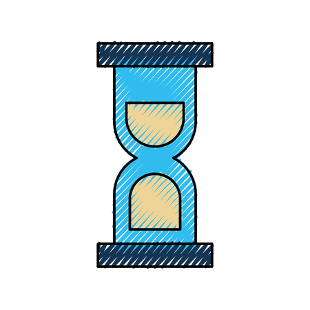 sand clock icon glass timer symbol vector illustration
