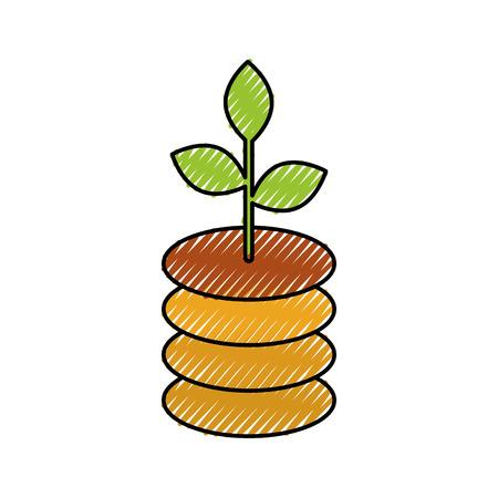 投資コンセプト利益ベクトル図における金融収益成長の増加  イラスト・ベクター素材