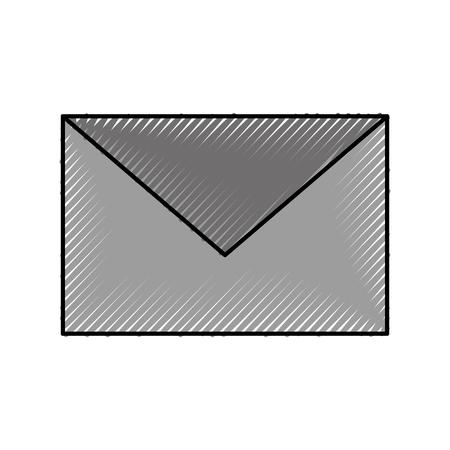 email envelope message chat communication icon vector illustration Çizim