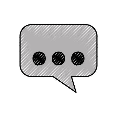 communication cartoon: speak bubble message dialog chat communication icon vector illustration Illustration