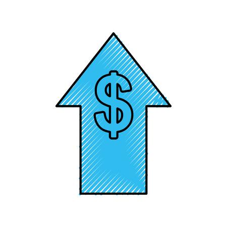 금융 화살표 투자 주식 성장은 돈을 벡터 일러스트 레이션을 증가