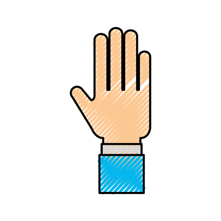 human hand business showing finger icon vector illustration