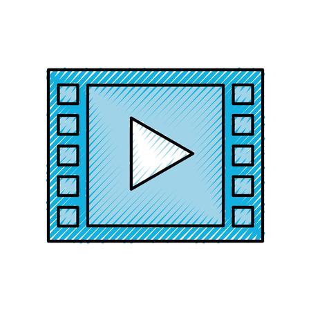 video play button digital movie film vector illustration