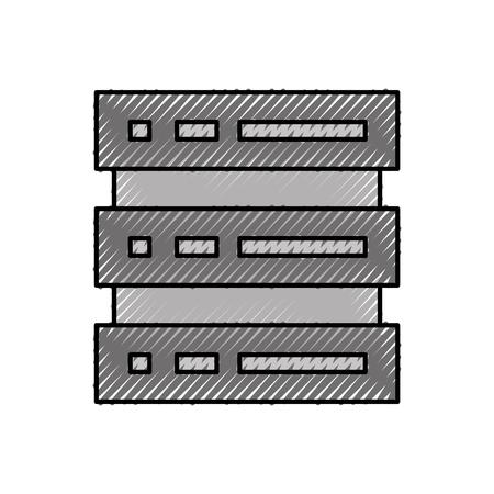 데이터 센터 서버 스토리지 시스템 장치 기술 벡터 일러스트 레이션 일러스트