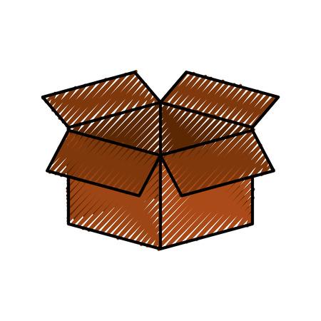 cardboard box storage information concept icon vector illustration