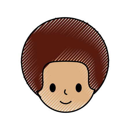 carton man head character avatar people vector illustration