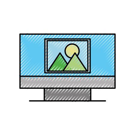 コンピュータ画像画面デバイス技術ワイヤレスベクトルイラスト